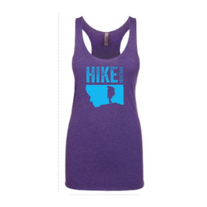 Hike Montana - Women's Racerback Tank - Purple Rush/Teal