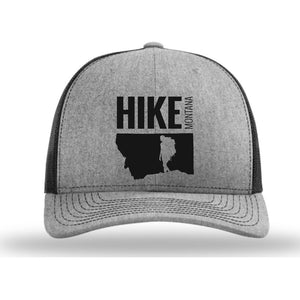HIKE MONTANA - SNAPBACK HAT - HEATHER GRAY/BLACK
