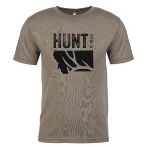 HUNT MONTANA - Short Sleeve Tri Blend T-Shirt - Venetian Gray