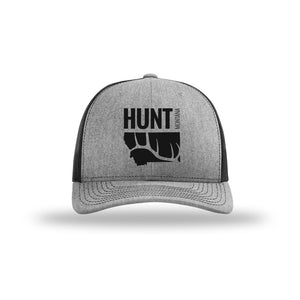 Hunt Montana - Snapback Hat - Heather/Black - ELK SHED ANTLER