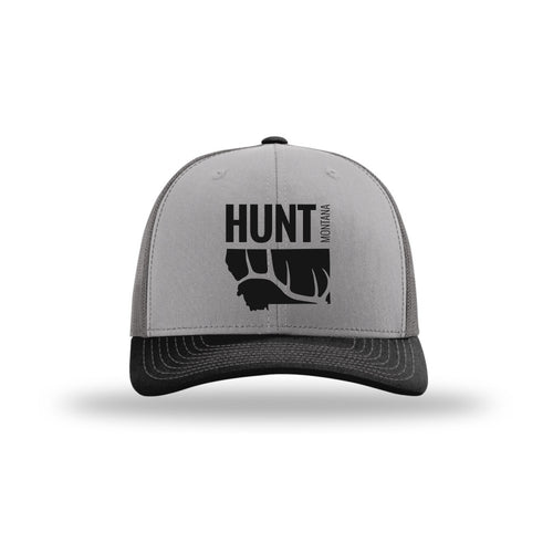 HUNT MONTANA - MONTANA ELK HUNTING HAT - CHARCOAL/GRAY/BLACK