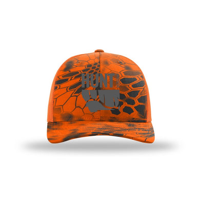 HUNT MONTANA - ELK HUNTING HAT - HUNTER ORANGE - KRYPTEK INFERNO