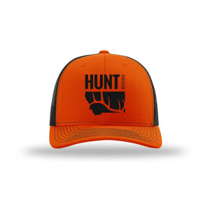 Hunt Montana - Snapback Hat - Orange/Black ELK