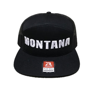 HUNT MONTANA - FLATBILL HAT - BLACK