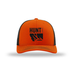 Hunt Montana - Snapback Hat - Orange/Black