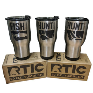 COFFEE MUG - RTIC 20 oz. Tumbler - HUNT & FISH Montana