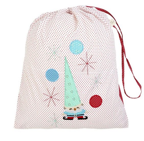Cheerful Elf (White) Christmas Sack