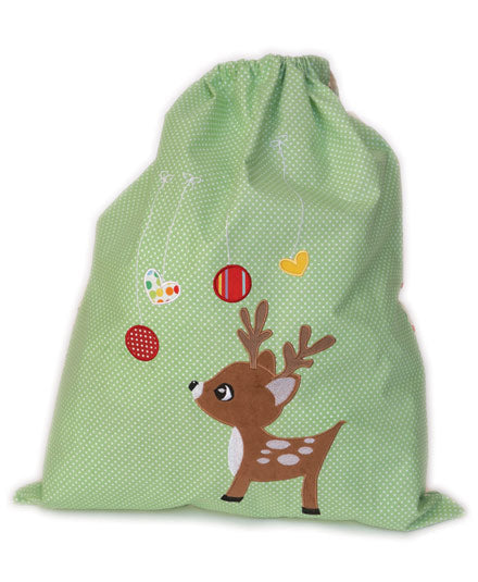 Little Reindeer (Green) Christmas Sack
