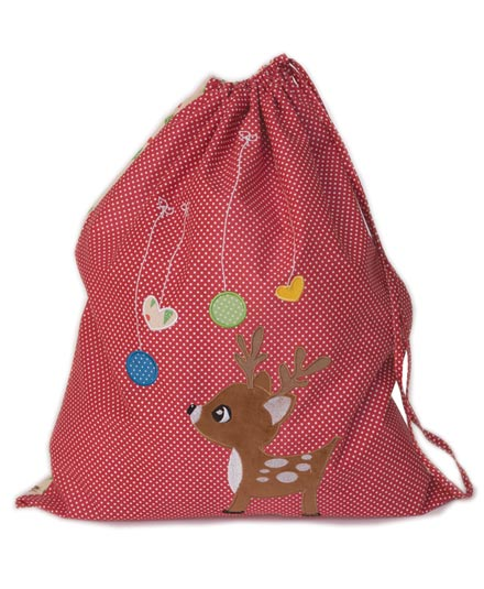 Little Reindeer (Red) Christmas Sack