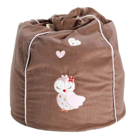 Kid's Bean Bag Cover - Dreamy Owl Sand