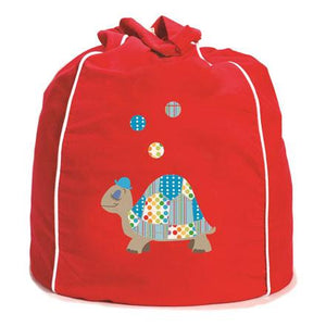 Kid's Bean Bag Cover - Ted Turtle Red