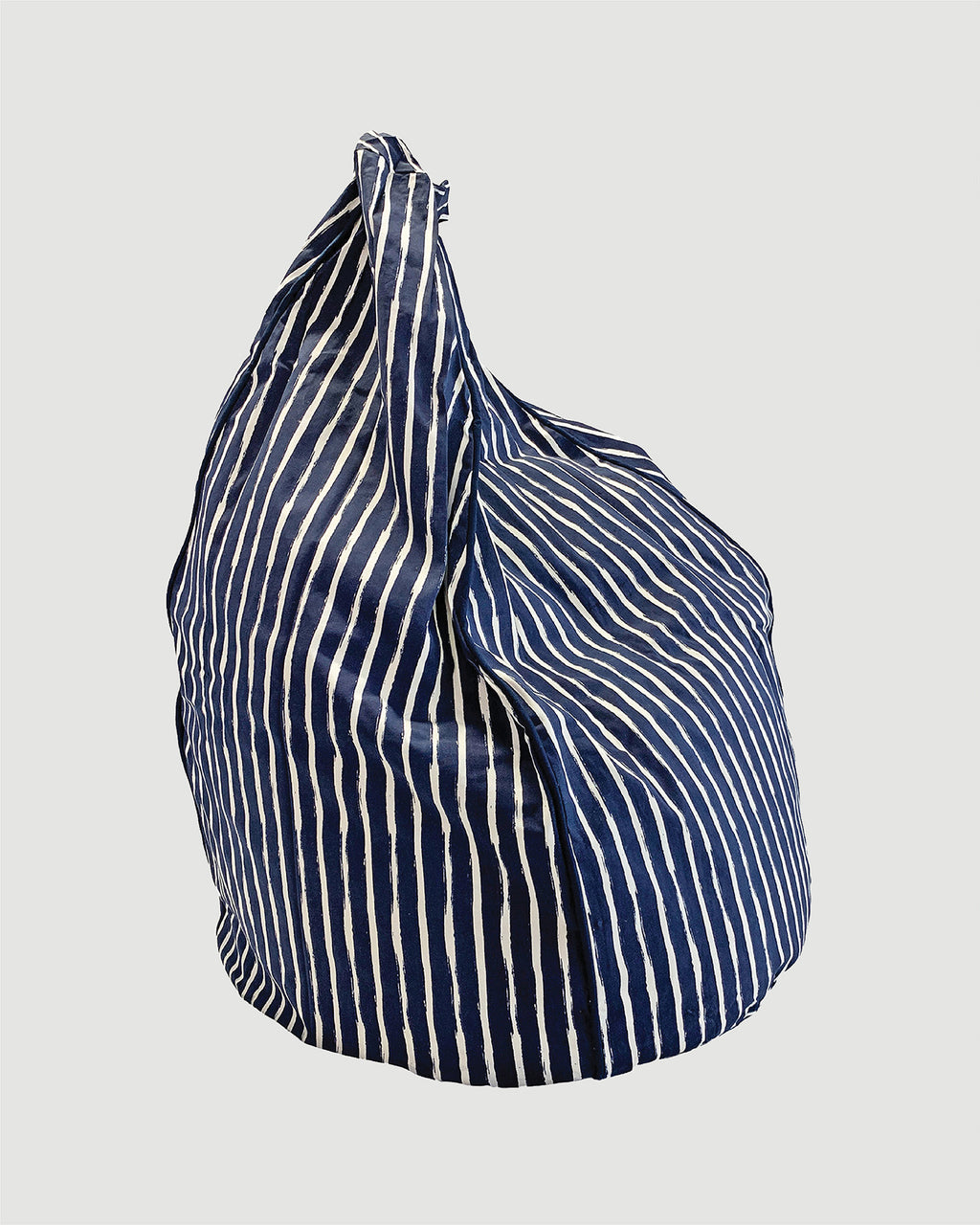 Bean Bag Cover - Navy Stripe - Small