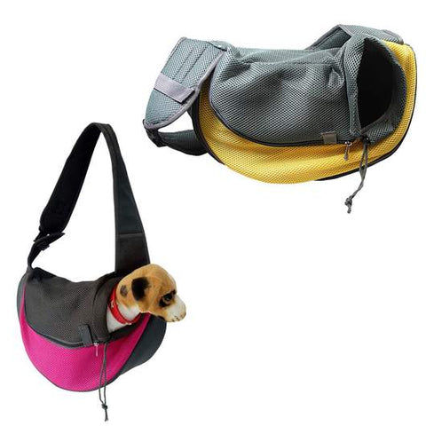 Outdoor Pet Dog Cat Puppy Strap Sling Tote Single Shoulder Cloth Bag Carry Pouch