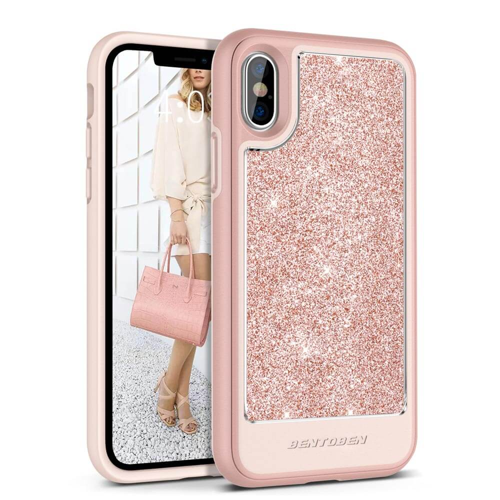 differently ea2c8 66c13 BENTOBEN Detachable Glitter iPhone XS Case for Apple iPhone Xs 2018, iPhone  X/10 2017
