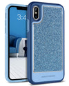 BENTOBEN Glitter iPhone XS Case for Apple iPhone XS, iPhone X/10, Blue - BENTOBEN