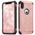 "BENTOBEN iPhone X/10 Case, iPhone XS (2018) Shockproof Glitter Sparkle Bling Girl Women 2 in 1 Shiny Faux Leather Hard PC Soft Bumper Protective Phone Cover for Apple iPhone X/XS 5.8"", Rose Gold/Pink"