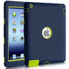 BENTOBEN Heavy Duty Rugged Shock-Absorption/High Impact Resistant Hybrid Three Layer Armor Full Body Protective Case Cover for iPad 2/3/4 Navy color - BENTOBEN