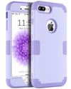 "BENTOBEN 3 in 1 Hybrid Hard PC Soft Silicone Shockproof Slim Phone Case for iPhone 8 Plus / 7 Plus (5.5"") Romantic Light Purple - BENTOBEN"