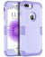 "BENTOBEN 3 in 1 Hybrid Hard PC Soft Silicone Shockproof Slim Phone Case for iPhone 8 Plus / 7 Plus (5.5"") Romantic Light Purple"