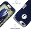 BENTOBEN iPhone 7 Plus Cover, iPhone 8 Plus Case, Heavy Duty Shockproof 3 in 1 Slim Hybrid Hard PC Cover Soft Silicone Rubber Phone Case Navy Blue/Gray - BENTOBEN
