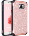 Galaxy Note 5 Case, Note 5 Case, BENTOBEN 2 in 1 Glitter Luxury Bling Hybrid Hard Cover Laminated with Sparkly Shiny Faux Leather Shockproof Bumper Protective Case for Samsung Galaxy Note 5, Rose Gold - BENTOBEN