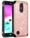 BENTOBEN  2 in 1 Faux Leather Protective Case for LG K20 Plus/LG K20 V/LG K20/LG K10/LG LV5, Rose Gold - BENTOBEN