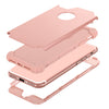 ENTOBEN Shockproof 3 Layer High Impact Resistant Hybrid Heavy Duty Hard PC Soft Silicone Full Body Protective Phone Cover for Apple iPhone 7/8 (4.7 Inch), Rose Gold - BENTOBEN