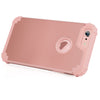 BENTOBEN 3 in 1 Hybrid Hard PC & Soft Silicone Bumper Heavy Duty Rugged Shockproof Full-Body Protective Case for iPhone 6/6S Plus (5.5 inch), Rose Gold - BENTOBEN