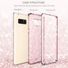 Samsung Galaxy Note 8, Hybrid TPU PC Bumper Shockproof Protective Phone Case for Girls Women, Rose Gold - BENTOBEN
