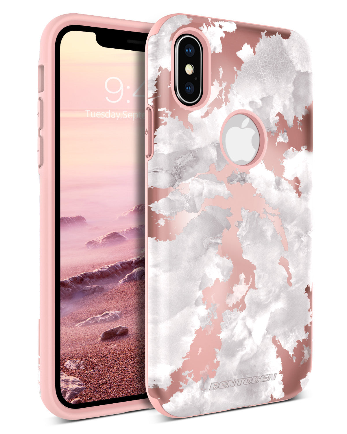 3458dd36924 BENTOBEN Case for Apple iPhone XS 2018   iPhone X   10 Marble Design Dual  Layer