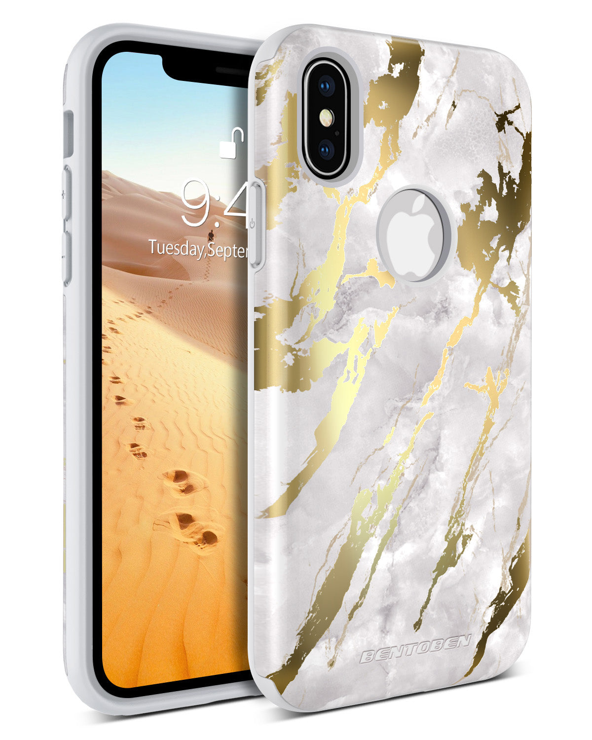 promo code 95049 63d00 BENTOBEN Case for Apple iPhone XS 2018 / iPhone X / 10, Marble Design Dual  Layer Heavy Duty Protective Shockproof Rugged Bumper Cute Girl Women Phone  ...