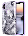 BENTOBEN Case for Apple iPhone XS 2018 / iPhone X / 10, Waves Pattern Design Dual Layer Heavy Duty Protective Shockproof Rugged Bumper Phone Case Cover for iPhone XS/X 5.8 Inch, Purple - BENTOBEN