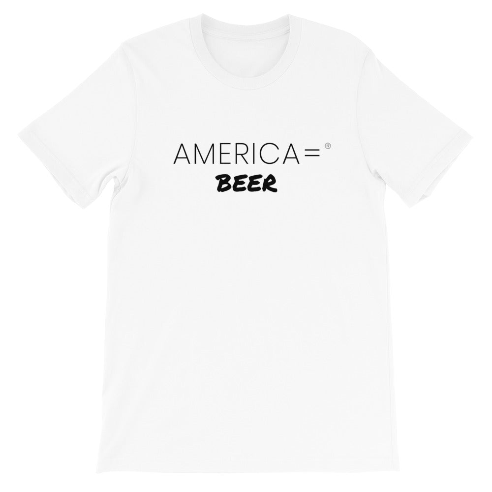 America = ®  Beer T-shirt | Unisex Humor & Fun T-shirts