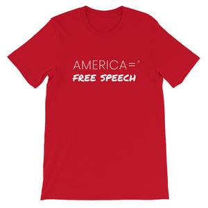 America = ® Free Speech T-shirt | Unisex Social Justice T-shirts