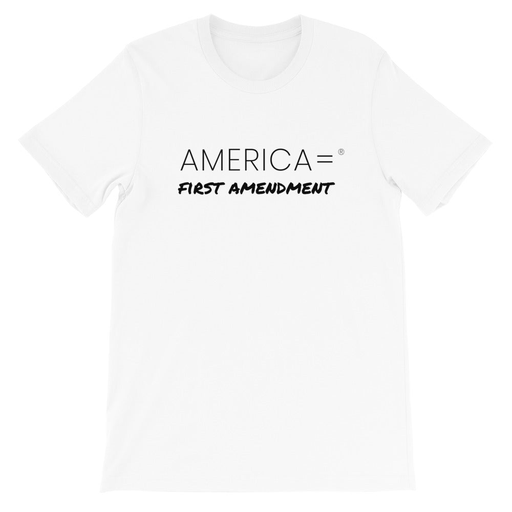 America = ®  First Amendment T-shirt | Unisex Social Justice T-shirts