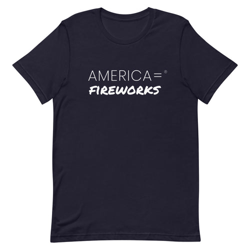 America = ®  Fireworks T-shirt | Unisex Patriotic T-shirts