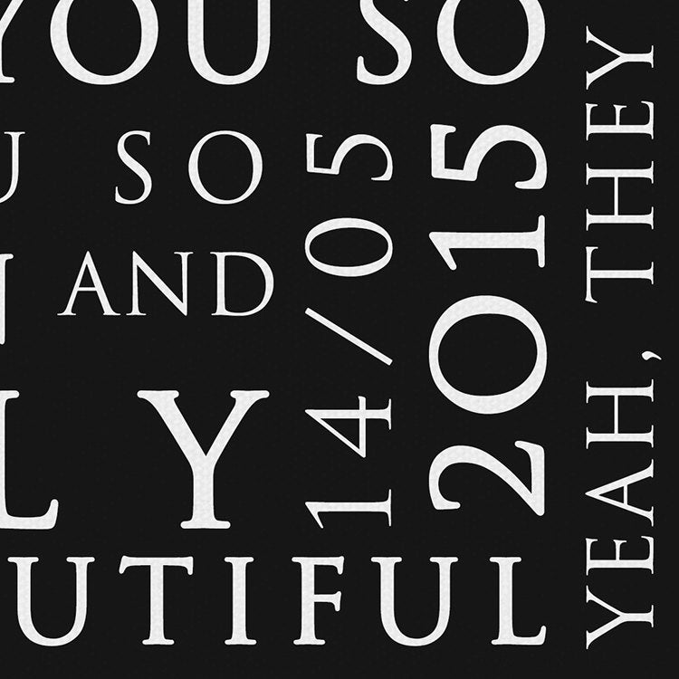Coldplay Yellow Inspired Lyric Art: Personalised Typography Print