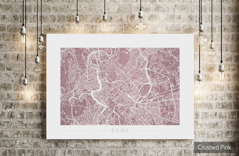 Rome Map: City Street Map of Rome Italy - Colour Series Art Print