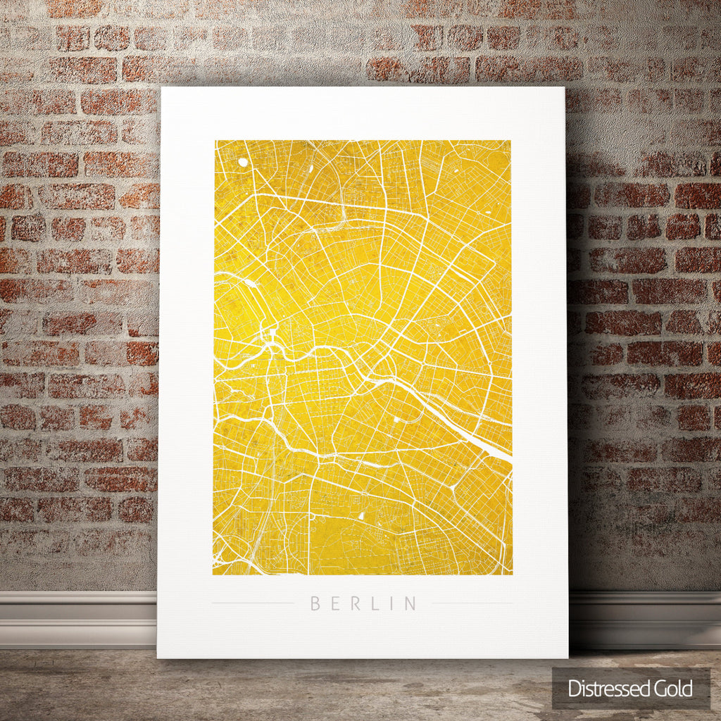 Berlin Map: City Street Map of Berlin Germany - Colour Series Art Print