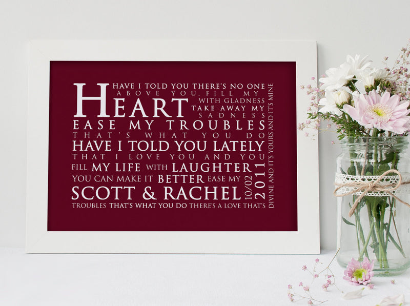 Van Morrison Have I Told You Lately Inspired Lyric Art: Personalised Typography Print