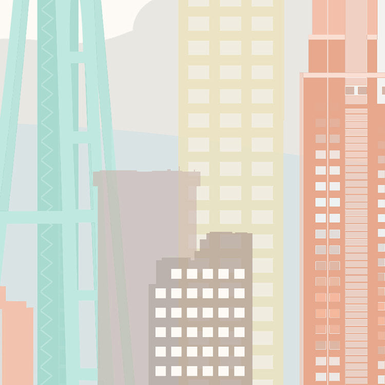 Seattle Skyline: Cityscape Art Print, Home Decor