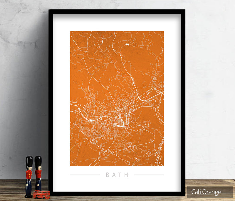 Bath Map: City Street Map of Bath, England - Colour Series Art Print