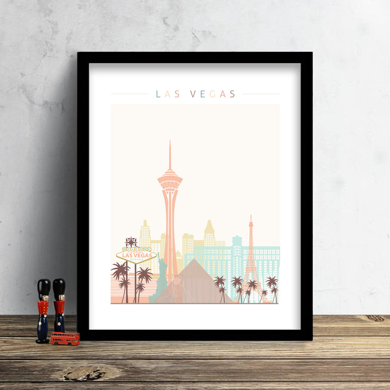 Las Vegas Skyline: Cityscape Art Print, Home Decor
