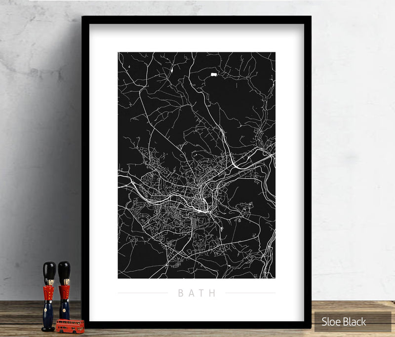 Oklahoma Map: City Street Map of Oklahoma, USA - Colour Series Art Print