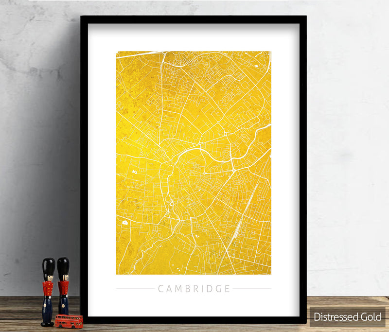 Cambridge Map: City Street Map of Cambridge, England - Colour Series Art Print