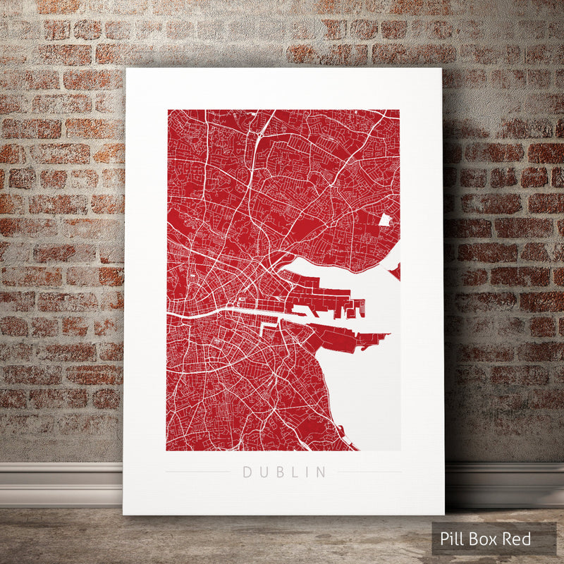 Dublin Map: City Street Map of Dublin Ireland - Colour Series Art Print