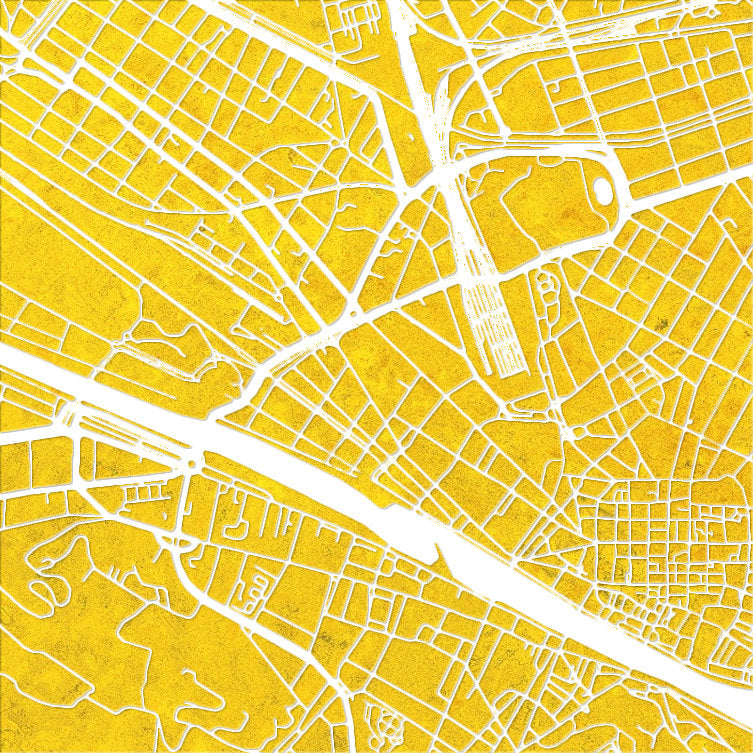 Florence Map: City Street Map of Florence Italy - Colour Series Art Print