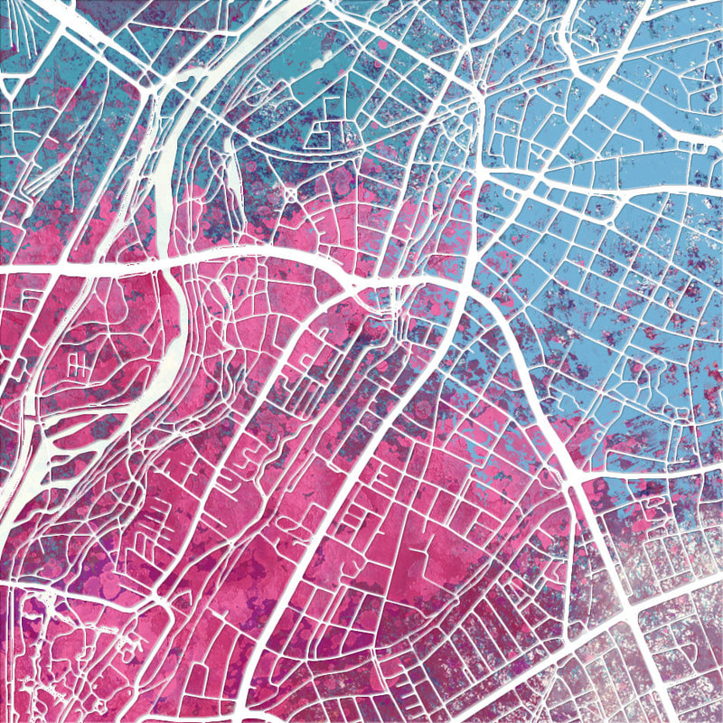 Munich Map: City Street Map of Munich, Germany - Nature Series Art Print