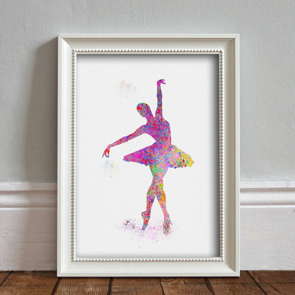 Ballerina: Watercolour Print For Nursery, Home Decor - Splash Art Series