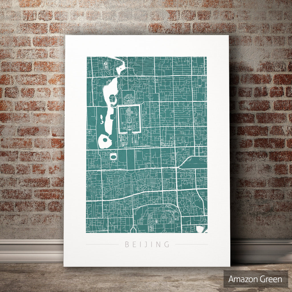 Beijing Map: City Street Map of Beijing China - Colour Series Art Print